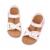 Estilo de roma Sandalias de Los Niños Para Las Muchachas 2017 Del Verano Del Nuevo de LA PU de Cuero corcho Suela Zapatos de Los Niños Bebé Niños Zapatos Planos Chaussure 1022