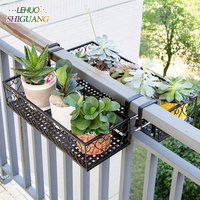 Balcony Iron Hollow shoe rack Outdoor garden Plant Shelves Storage Shelf Simple Assembly can be removed Bedroom Flower pot rack