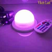 Led system rechargeable battery remote controller waterproof for light bulb as table lamp or under table for anything