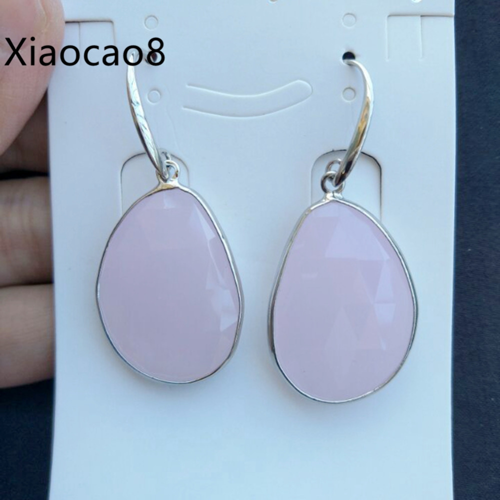 5Pairs Pink White Gray Stone Dangle Drop Earrings with Hook Fashion Womens Jewelry Boucle D Oreille Costume Jewelery Earrings