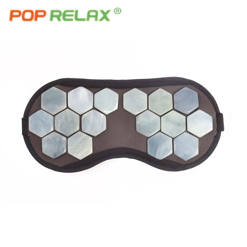 POP RELAX USB electric heating real jade stone eye care face mask physiotherapy airplane travel portable heated patch facial pop relax electric vibrator jade massager light heating therapy natural jade stone body relax handheld massage device massager