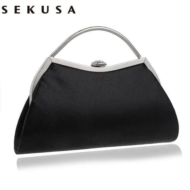 SEKUSAออกแบบผสม 5 สีจับกระเป๋ารูปโซ่ไหล่Messengerกระเป๋าถือParty