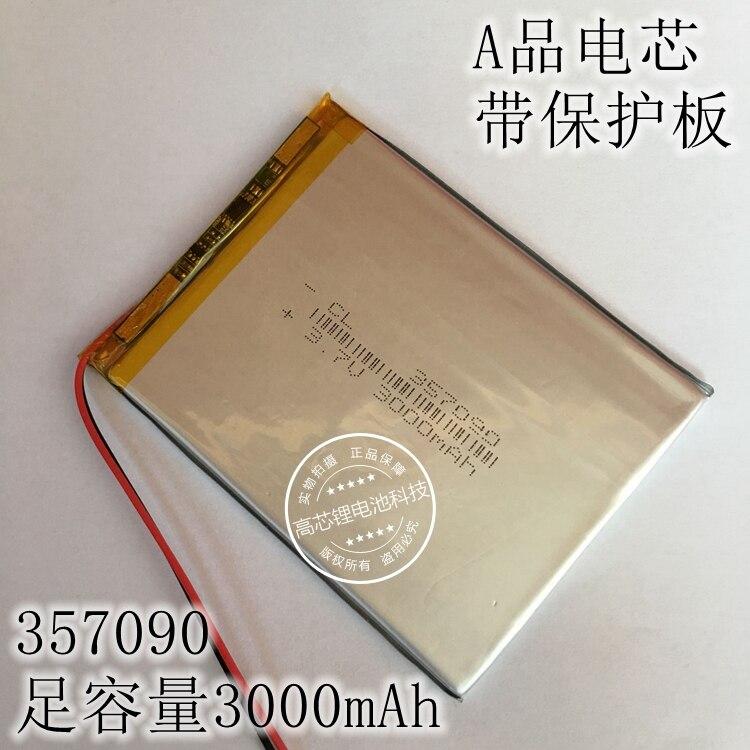 Capacidade da Bateria Todos os Tipos de Bateria de Lítio Pacote de 3000mah Polegadas Plana Grande v 357090 Recarregável Li-ion Celular 7 3.7