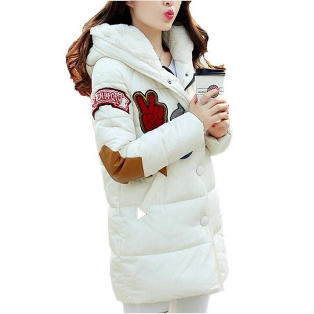 Mulheres jaqueta de inverno para baixo acolchoado-algodão outerwear plus size preto 5xl clothing wadded jaqueta feminina espessamento solto desgaste neve