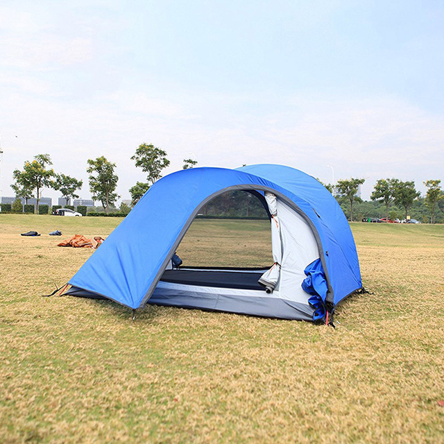 Professional Backpacking Tents 2 Person with extra Bicycle Storage Door Double Layers Aluminum C&ing Tent 4 & Professional Backpacking Tents 2 Person with extra Bicycle Storage ...