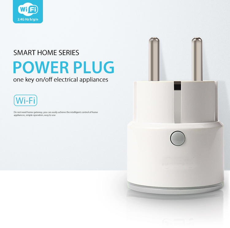 SmartYIBA 2.4G WiFi APP Control Smart EU Plug Socket For Home Automation Smart Power Socket Plug Remote ON/OFF Home Appliance