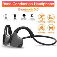 Bone Conduction Bluetooth 5.0 Headset Portable Sports Runing HIFI Noise Reduction Stereo 3D Bluetooth Headphone