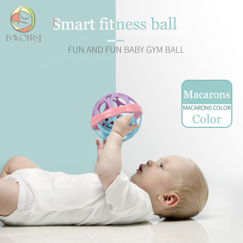 New Born Bites Montessori ABS Balls Toy Macarons Baby Rattles Crib Toys Mobiles for Kids Baby Toys T0148