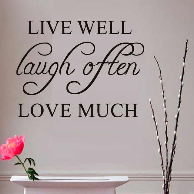 Live Well Laugh Often Love Much Inspiring Quotes Wall Stickers DIY - Inspiring wall decals
