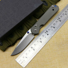 Survival Knife Chris Reeve Folding D2 Blade Knife TC4 Titanium alloy Handle Pocket Hunting Tactical Knives Camping Outdoor c1