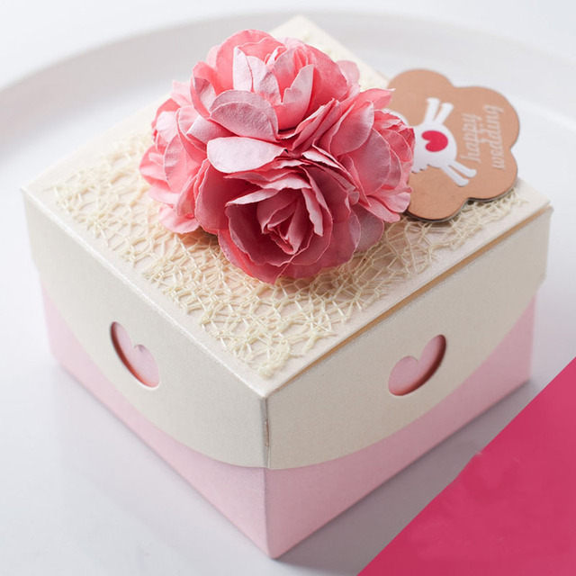 2015bestselling Pink Princess Style Wedding Favor Boxes Diy Paper