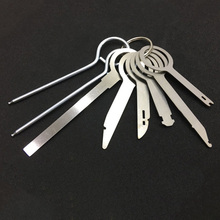 8Pcs Car Steel Removal Open Tools Key Kit Radio Audio CD Player Disassemble Tool