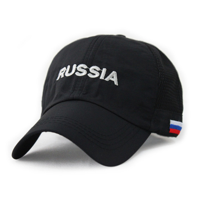 brand super light and thin outdoor leisure mesh cap russia embroidery breathable baseball caps thin quick dry male sport hat