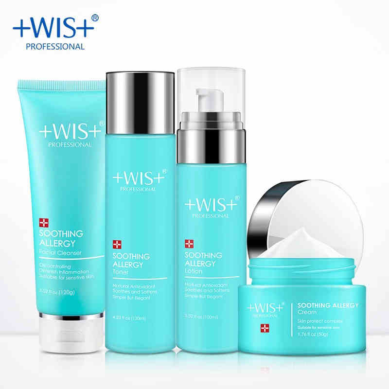 WIS cleaning and soothe set hydrating oil control moisturizing toner lot to protect skin female free shipping