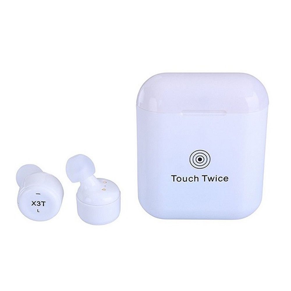 In-Earbuds X3T TWS Wireless Bluetooth 4.2 Headset Earphone wtih Charger Box Bass Pair Sport Earphone With Microphone For Phone