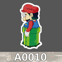Super Mario cartoon stickers for children kids Laptop Moto Car guitar luggage skateboard bicycle waterproof PVC stickers(China)