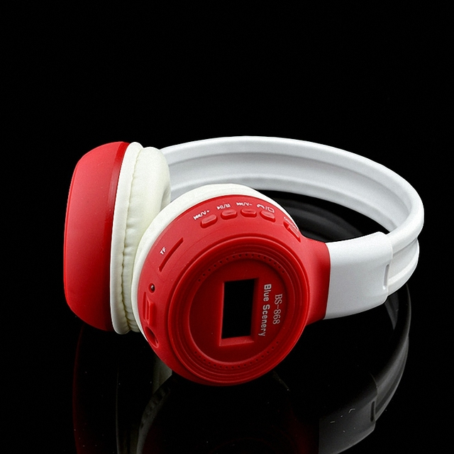 Luminous LCD Screen Bluetooth Headsets Wireless Headphones Stereo Headset Auriculares Handsfree Call With MP3 Play FM Radio AUX