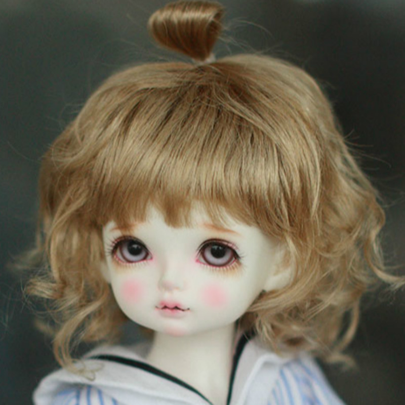 4 BJD Doll wig super cute imitation Mohair wig accessories - 1/4 BJD MSD bambi new style 1 3 1 4 16 bjd wig super doll cute wig mohair single braid for bjd doll hair free shipping