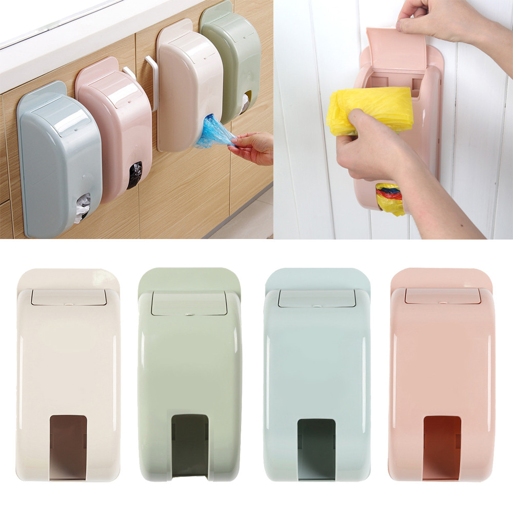 Home Plastic Wall Mount Carrier Bag Storage Container Holder Organizer Fit Conveniently In Cabinet Doors, Saving Places.