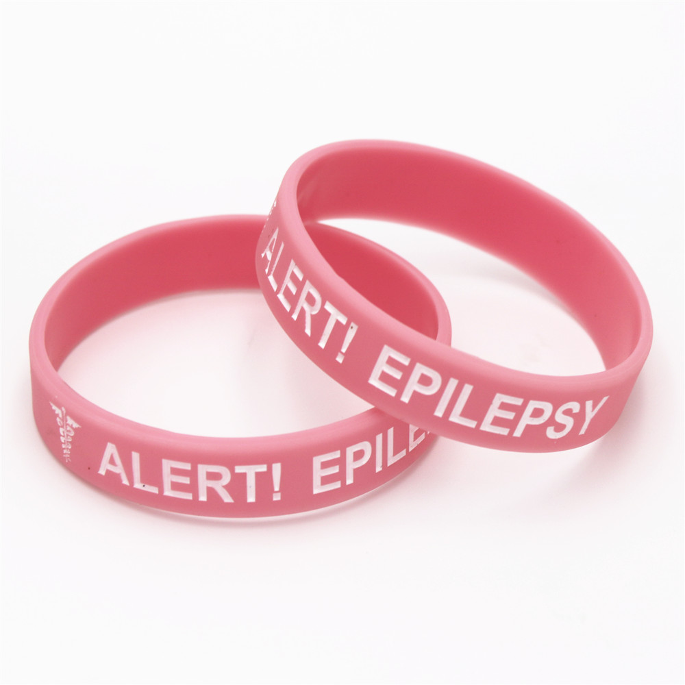 1pc Medical Alert Bracelet Epilepsy Silicone Wristband In Kids Size Armband Bracelets Bangles For Gifts Sh135k Hologram From