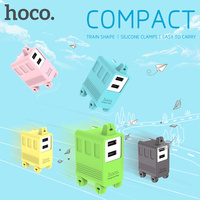 Original HOCO C6A jornada Legal Duplo USB NOS ligue Viagem Inteligente carregador para iPhone iPad iPod Samsung LG Home Da Parede AC rápido 2.1A