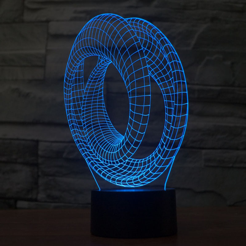 Free Shipping 3D DECOR Visual Light shape LED Night Light lamp 3d illusion art Mood Lamp novelty Bulbing Light