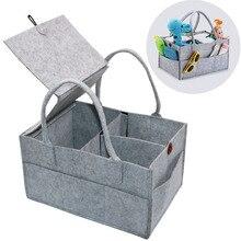 Складной органайзер для детских подгузников/сумка для хранения со съемной крышкой детские игрушки Портативная сумка/коробка для автомобиля для смены в путешествии Настольный Органайзер