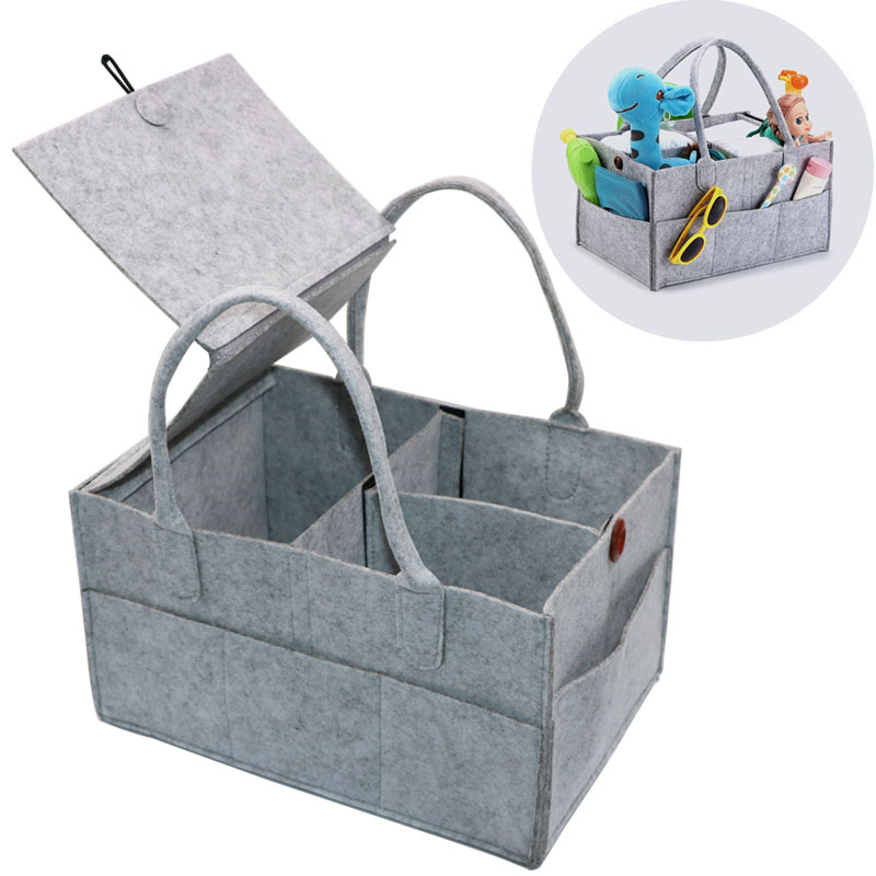 Foldable Baby Diaper Caddy Organiser/Removable Lid Storage Bag Kid Toys Portable Bag/box for Car Travel Changing Table Organizer