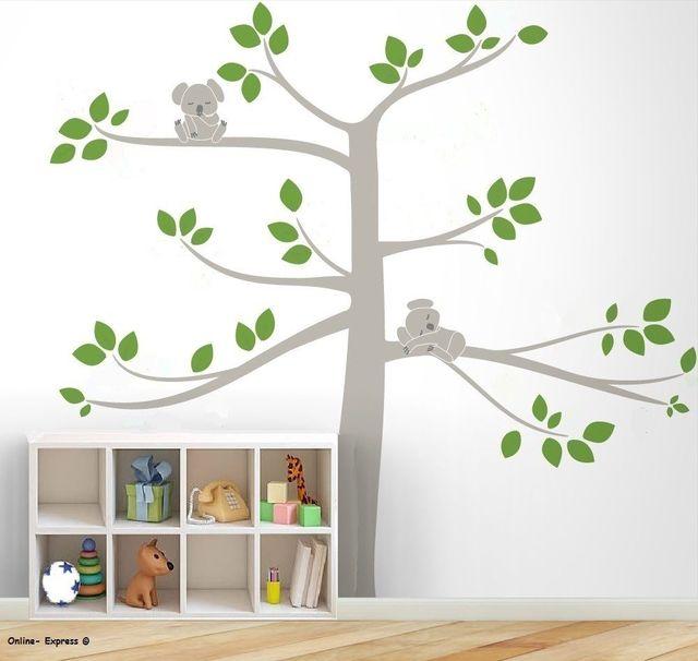 L21 Free Shipping Koala Bear Large Tree Sleeping DIY Nursery Wall Art  Stickers Home Decor Kids Part 88