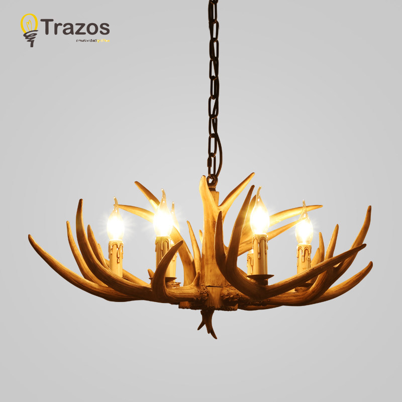 Awesome Countryside Chandelier For Home Lighting Decoration Indoor Christmas Lamp  Pendentes E Lustres Antlers Wooden Ceiling Chandelier In Chandeliers From  Lights ...