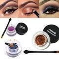 1pcs Cosmetic 12 Color Waterproof 3D Shining Eye Shadow Air Cushion Shimmer Eyeshadow Cream