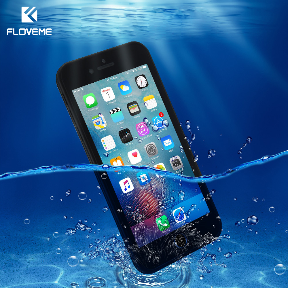 FLOVEME Waterproof Case For iPhone 7 Soft TPU IPX8 Underwater Phone Cases For iPhone 6 6s 8 7 Plus 5 5s SE Waterproof Cover Capa
