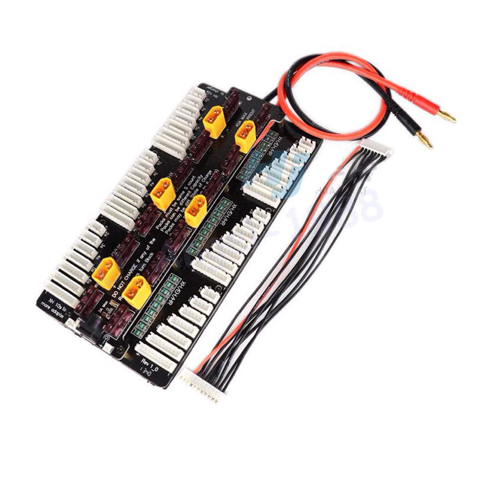 1pcs New Cellpro PL8 PL6 308/3010/4010 2~8S Battery Charger Balance Board 8s Same time charging 6 Batteries for RC Drone FPV