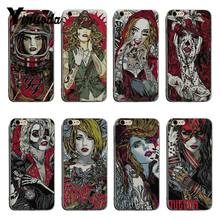 Yinuoda Unique hand-painted style girl dark face soft tpu phone case cover For iPhone XSMax X XS XR 7 7Plus 8 8plus 6s 6plus(China)