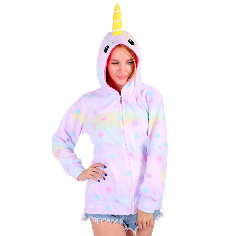 Star Narwhal Hooded Hoody Sweatshirt Tracksuit Adult Hoodie Costume Cosplay Moleton Feminino Ropa Deportiva Mujer A Plastic Case Is Compartmentalized For Safe Storage Women's Clothing