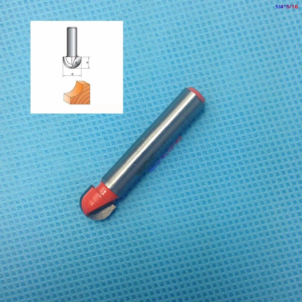 Broca de enrutador de punta redonda de 5/16 pulgadas de diámetro con vástago de 1/4 pulgadas