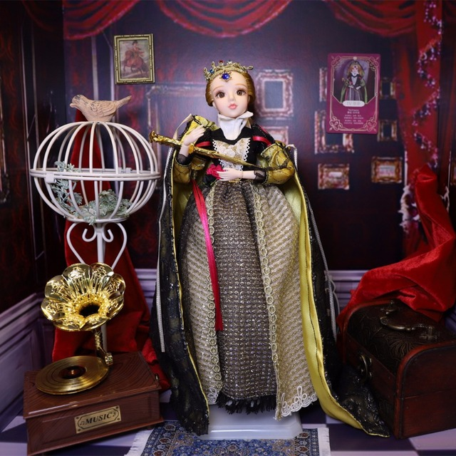 TAROT CARD Major Arcana The emperor joint body doll white skin with crown golden blonde hair 34cm east barbi 4
