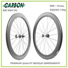 Изготовленный на заказ стикер углеродного колеса 60 мм углерода колесная углерода велосипед колеса 25 мм широкий 700c фикчированный формировать дорожный велосипед у