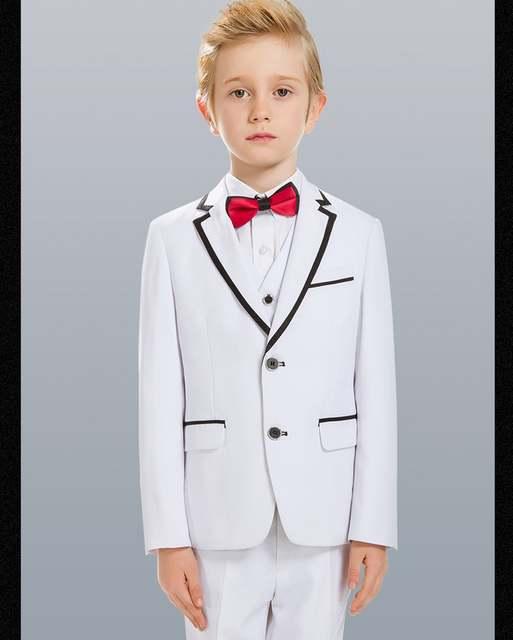 dcbfc1aa9052 Online Shop Custom Made Boy Tuxedos Notch Lapel Children Suit White ...