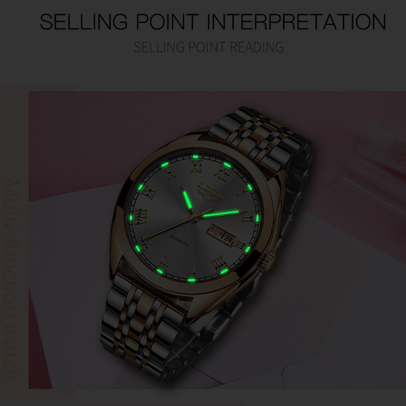 LIGE Fashion Women Watches Ladies Top Brand luxury Waterproof Gold Quartz Watch Women Stainless Steel Date Wear Gift Clock 2019 6