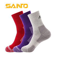 3 Pairs SANTO S006 Outdoor Cotton Socks Womens Sports Quick Dry Spring Autumn Winter Fit to Size 35-38