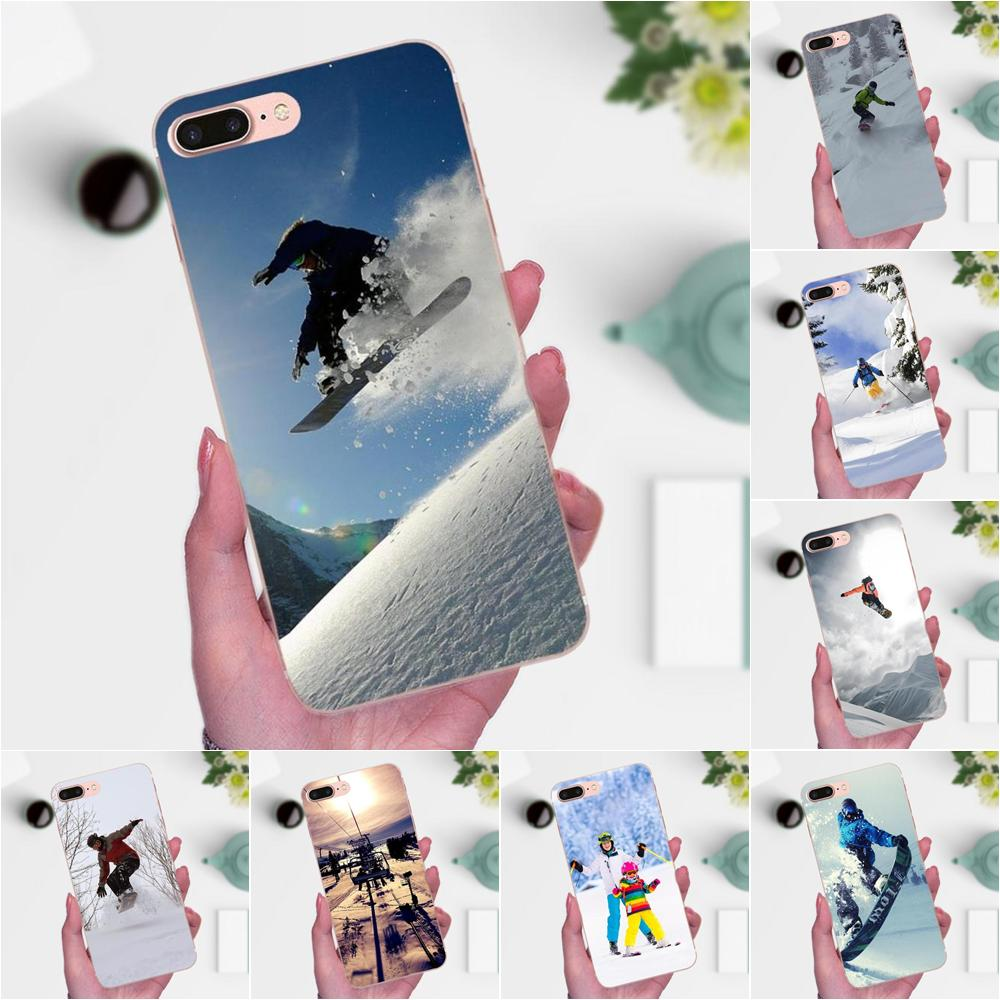 For Huawei Mate 7 8 9 10 20 P8 P9 P10 P20 P30 Lite Plus Pro 2017 Soft TPU 2017 New Arrival Snow Or Die Ski Snowboard Sport Print
