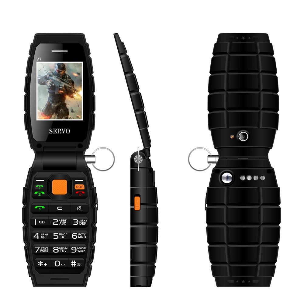SERVO V7 Three SIM phone 2 4 3 SIM card 3 standby mobile phone Flashlight Power
