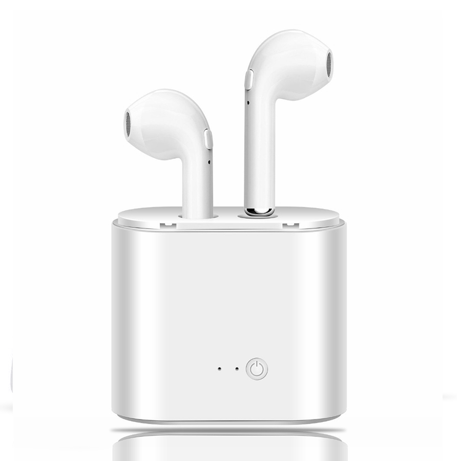 i7 TWS Ture Wireless Bluetooth Earphone Headset Mini Earbud With Mic Bluetooth Ear Bud For Iphone Sony Xiaomi mi8 With Charging