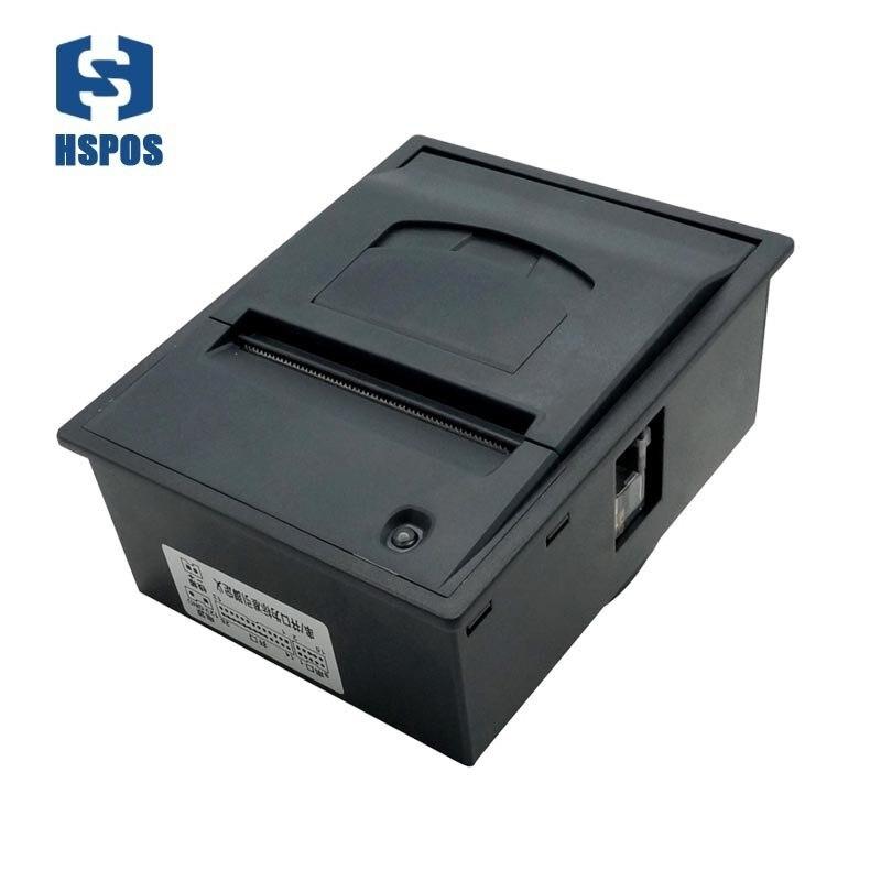 Di alta qualità 58mm embeded supporto stampante termica di codici a barre porta cassetto dei contanti con diverse lingue e caratteri di grande magazzino DC12V