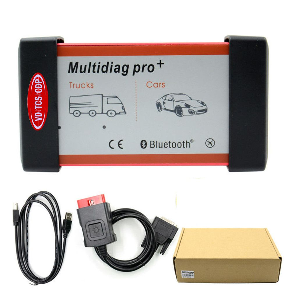 Image 4 - DHL Free! (2016 R0/2015 R3)Red Multidiag Pro with Bluetooth VD TCS CDP+ 21 languages+FULL set 8pcs CAR CABLES  for Cars & Trucks on