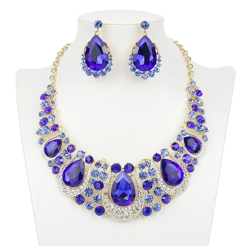 Aliexpress Com Buy New Fashion Necklace Earrings Bridal: Aliexpress.com : Buy Fashion Indian Crystal Necklace