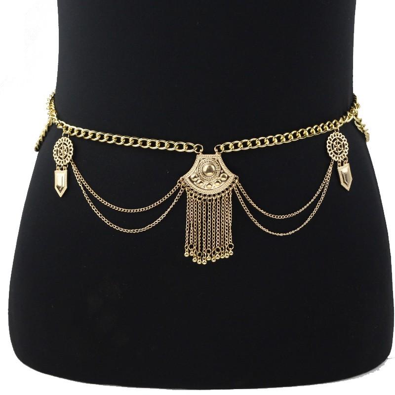 Bohemian Ethnic Sexy Waist Chain Sexy Tassel Body Chain Coins Jewelry