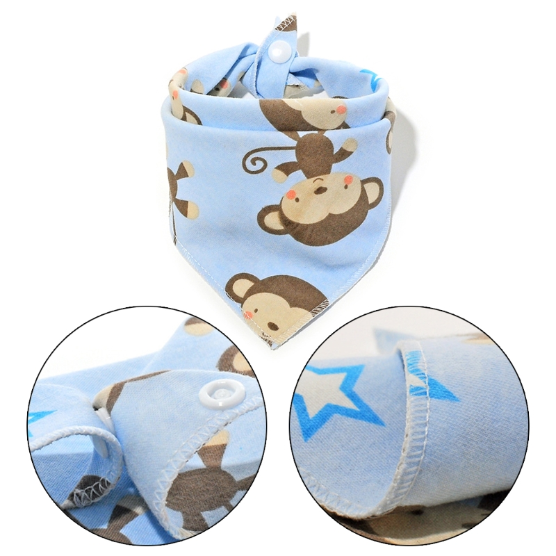 2018 Infant Baby Bandana Triangle Towel Floral Printing Newborn Infant Saliva Bib Girls Boys JUN11_17