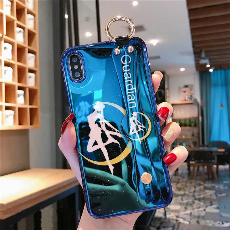 Для iphone 11 pro XR XS max X Сейлор Мун ремешок на запястье мягкий чехол для телефона для iphone 8plus 7 8 7P 6 6S 6p прекрасный тарако чехол